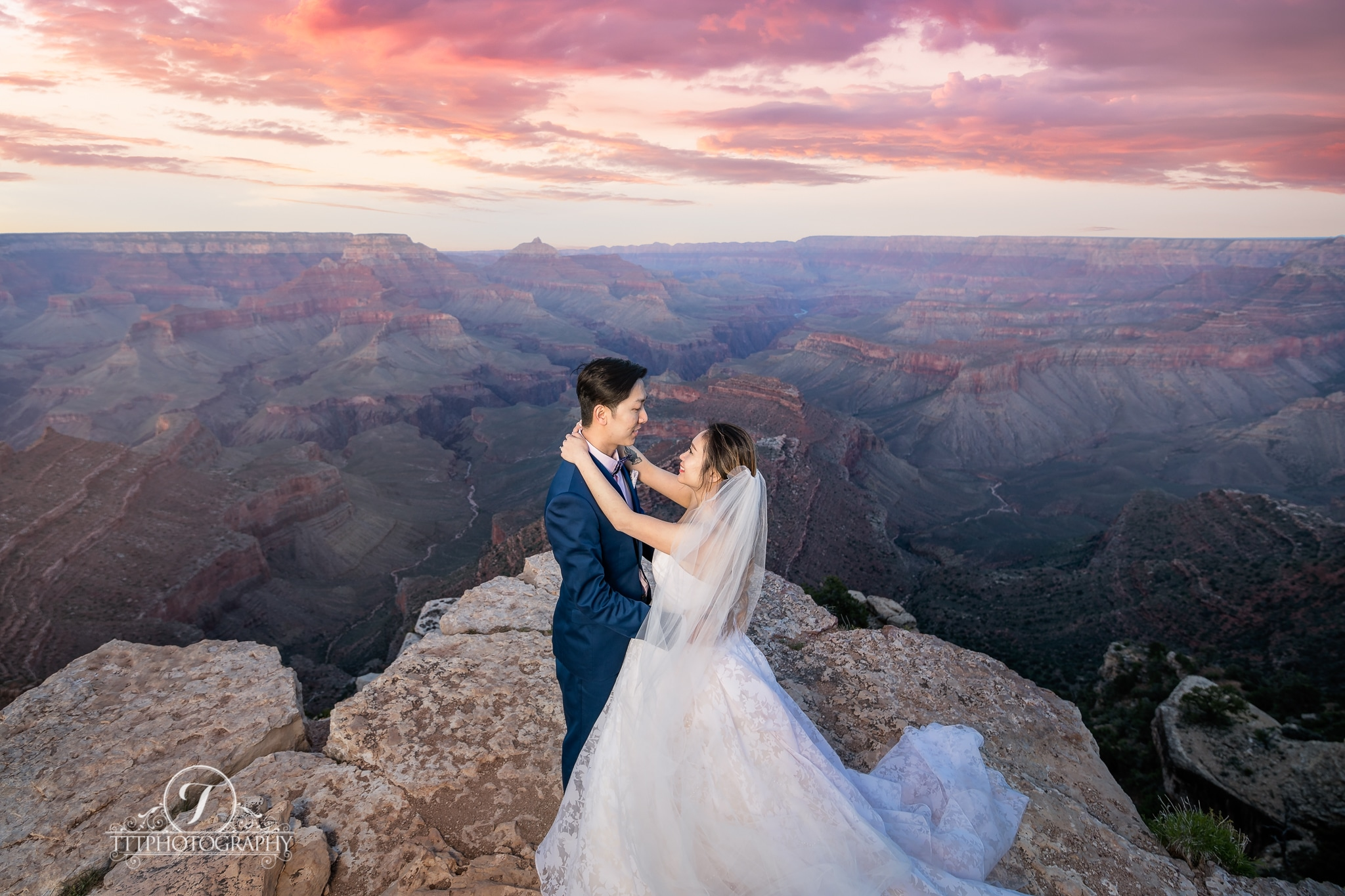 Grand Canyon And Las Vegas Wedding Tttphotography Los